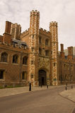 Great Gate, St John's College, Cambridge. The main entrance, built in 1516, to St John's College, part of the University of Cambridge Royalty Free Stock Photo