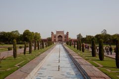 The Great Gate of the Taj Mahal from entrance Royalty Free Stock Photos
