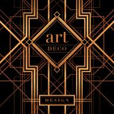 The Great Gatsby Deco Style vector Royalty Free Stock Images