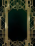 Great Gatsby Movie Inspiration Film Backdrop Background Poster. Signage Art Deco Architecture Gold Silver Graphic Design Texture vector illustration