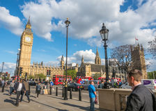 Great George street with Big Ben in London Stock Photo