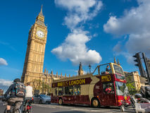 Great George street with Big Ben in London Stock Photography