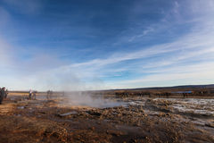 The Great Geysir, geyser in Iceland Royalty Free Stock Images