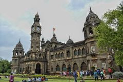 The New Palace! - 2. The great giant monument which is surrounded by visitors all around is a mark of great history. New Palace, Kolhapur is a palace situated in Royalty Free Stock Photography