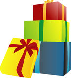 Great Gifts. A number of colored gift boxes for using on special occasions Stock Photography