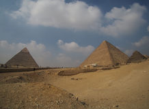 Great Giza pyramids in Egypt, panoramic view Stock Images
