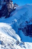 Great glacier. In high mountain Stock Photo