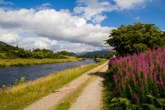Great Glen. Walking beside the river in the Great Glen Scotland stock photography