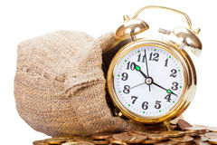 Great golden alarm clock Stock Photos