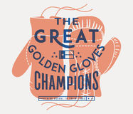 The great golden gloves Royalty Free Stock Photos