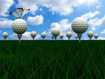 Great Golf course Royalty Free Stock Photo