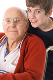 Great Grandfather And Grandson Together Vertical Stock Photos
