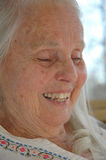 Great Grandma's Laughter. Great Grandmother's Laughing Face close-up Stock Photo