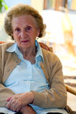 Great grandmother. A great grandmother close up. Woman in her nineties Royalty Free Stock Photo