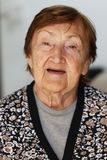 Great Grandmother. Senior woman portrait of a 85 year old lady Stock Photography