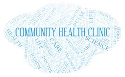 Community Health Clinic word cloud stock illustration