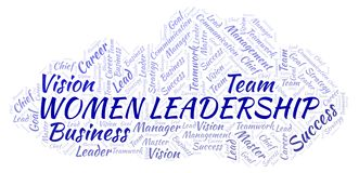 Women Leadership word cloud stock illustration