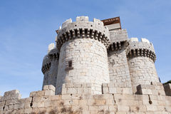 Great gray stone castle Stock Photography