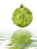 Great green christmas globe Stock Photos