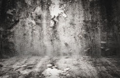 Great grungy wall with black vignette - great for use as your ba Stock Images