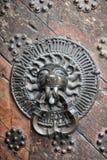 Great Guildhall Lionhead Door Knocker Stock Photos