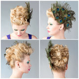Great hair style Stock Image