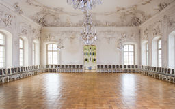 Great Hall Ballroom in Rundale Palace. Latvia Stock Images