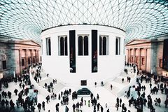 Great hall of British Museum royalty free stock photo