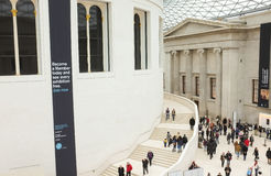 Ticket hall of the British Museum, England Stock Photo