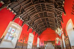 The Great Hall in the Edinburgh Castle, Scotland. stock photo