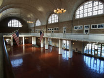 Great Hall Ellis Island. The great hall at Ellis Island National Park in New York Royalty Free Stock Image
