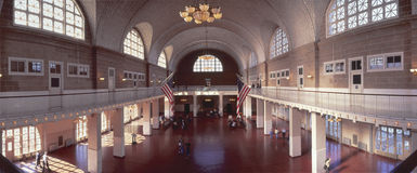 Great Hall of Immigration Stock Image