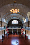 Great hall of the Immigration museum on Ellis island, New York city Stock Photos