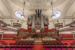 The Great Hall inside the Methodist Central Hall, Westminster Royalty Free Stock Photo