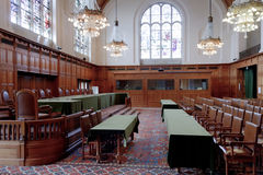 Old Great Hall of Justice - ICJ Court Room Royalty Free Stock Photography