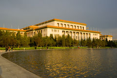 Great Hall of the People. Was built in 1959. It's a famous landmark in Beijing China and maximal assembly hall in the world Royalty Free Stock Photography