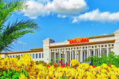 Great Hall of the People (museo nazionale della Cina) su Tiananme fotografia stock
