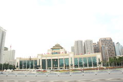 The great hall of the people`s government of guangxi Stock Photography