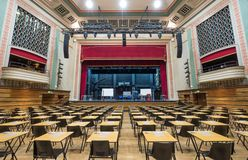 The Great Hall, Queen Mary, University of London. Victorian entertainment hall renovated in art deco style after fire in 1931. stock images