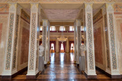 Great hall at Stadtschloss in Weimar Royalty Free Stock Photo