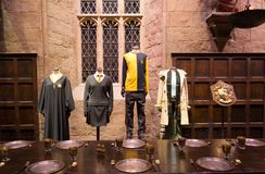 The Great Hall in the Warner Brothers Studio tour 'The making of Harry Potter' in London, Uk stock photos