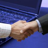 Great handshake Stock Photography