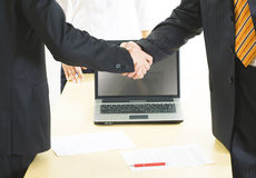 Great handshake Royalty Free Stock Photography
