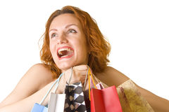 Great happy shopping Royalty Free Stock Image