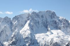 Great high mountains with snow Stock Photography