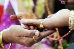 Great Hindu Wedding Mother in Law gets involved Royalty Free Stock Photography