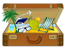 Great holiday suitcase Stock Photo