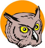 Great Horned owl. Vector art of a great horned owl Royalty Free Stock Image