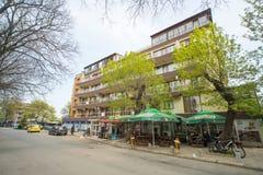 Great hotel in the quarter of Bourgas Sarafovo, Bulgaria Stock Photos