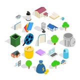 Great house icons set, isometric style. Great house icons set. Isometric set of 25 great house vector icons for web isolated on white background royalty free illustration